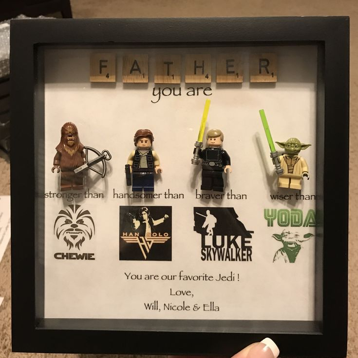 Fathers day shadow box diy star wars gifts fathers
