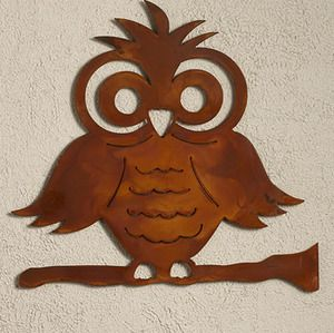 Fun Owl Metal Wall Art - #ElizabethKeith