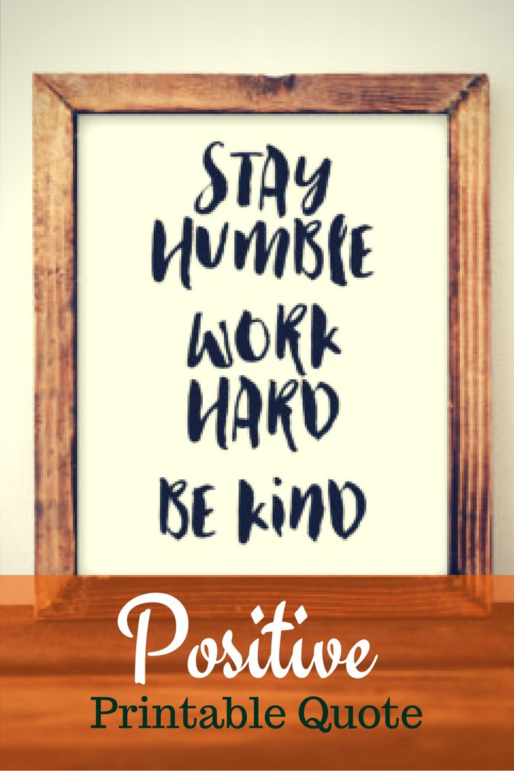 Printable Wall Art, Stay Humble Work Hard Be Kind, motivation print, typography quote, positive print, black and white print printable quote #Affiliate