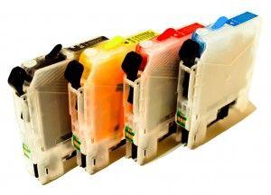 Wieczne Nano-kartridże do Brother DCP-J152W (Napełnione)