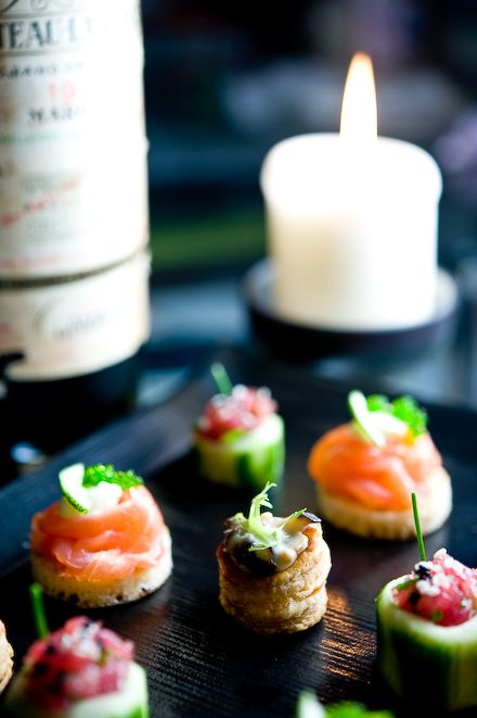 dinner party canapes
