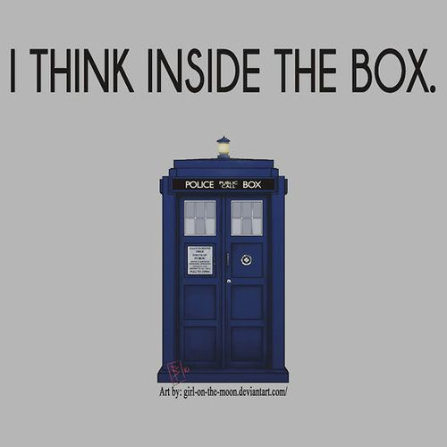 Because the box is bigger on the inside.
