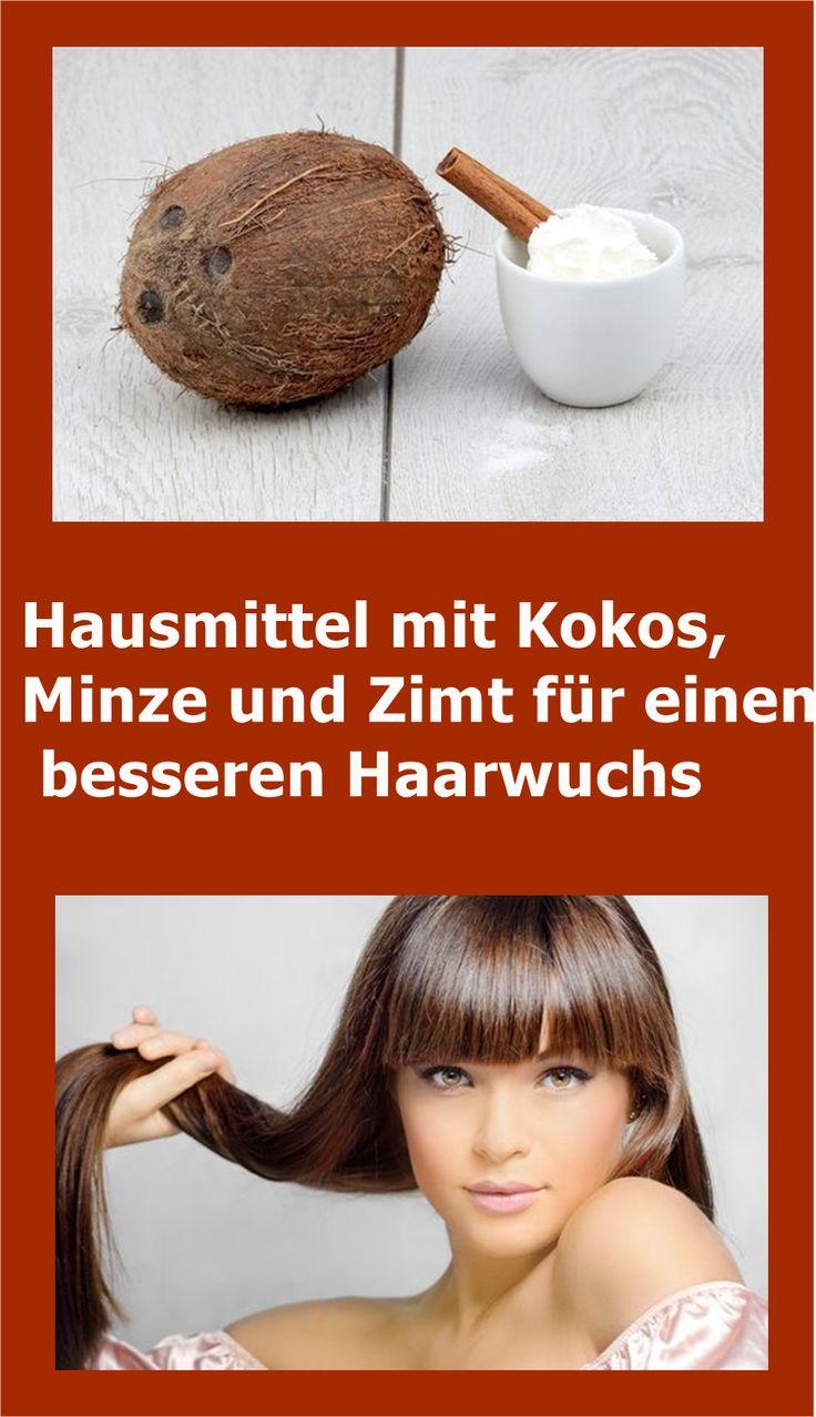 Hausmittel mit Kokos, Minze und Zimt für einen besseren Haarwuchs   njuskam!
