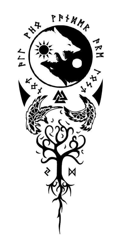 Just Combining 2 Ideas Tattoo Rune Tattoo Norse Tattoo Nordic
