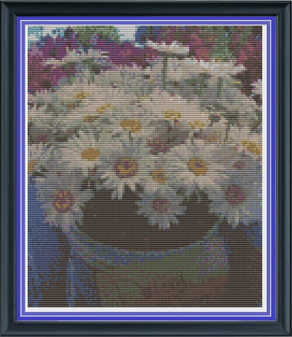 Cross Stitch Pattern Bucket O' Daisies Pike Place by FriendyWendy, $5.00: Crosses Stitches Pattern, Pattern Buckets, Cross Stitch Patterns, Cross Stitches