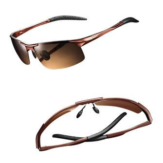 Polarized UVA UVB Protection Sunglasses Aluminum Magnesium Alloy Glasses - US$27.99