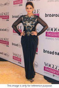 Bollywood Style Huma Qureshi Georgette Suit In Black Colour NC1305