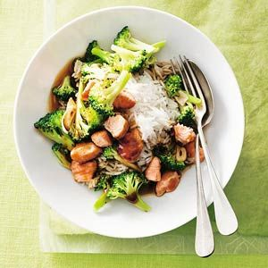 Recept - Broccoli met zalm en ketjap - Allerhande
