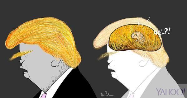 Resultado de imagem para trump caricaturas