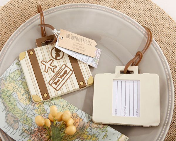 """""""Let the Journey Begin"""" Vintage Suitcase Luggage Tag"""
