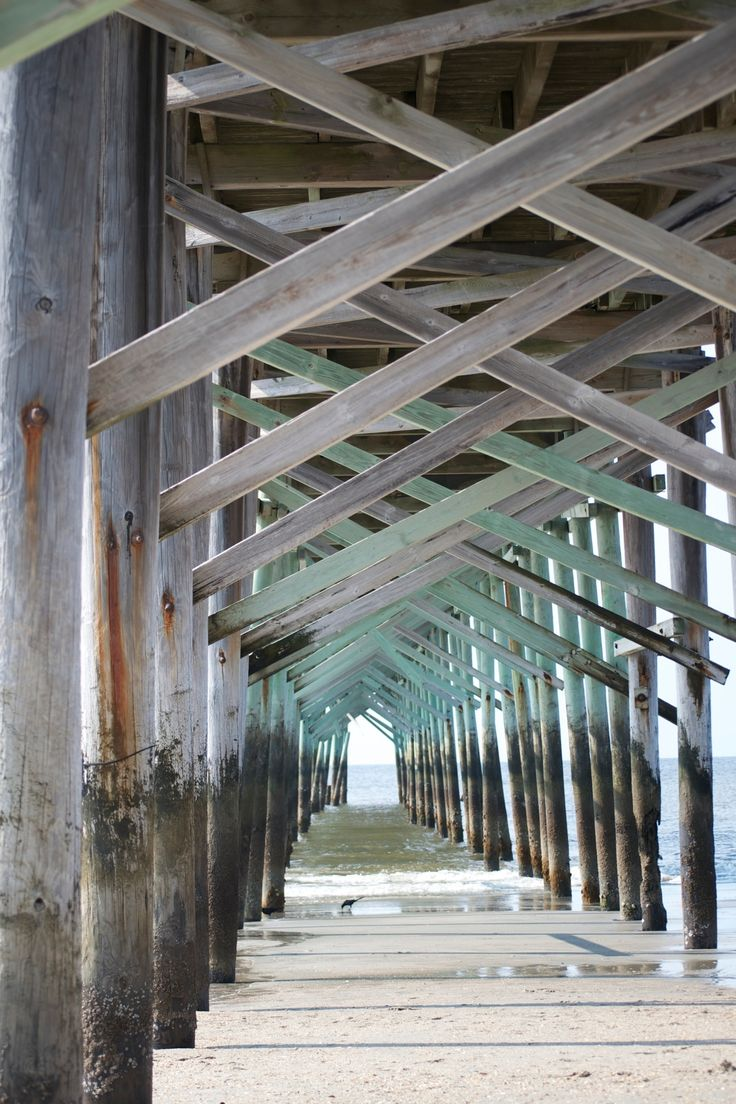 Ocean Isle Beach, under the pier, beach photography