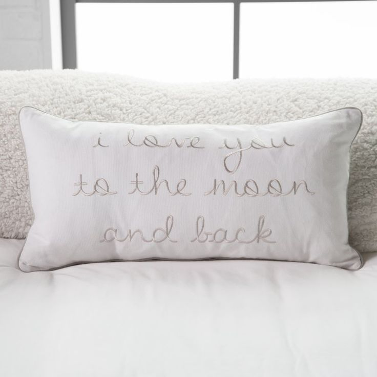 Thro By Marlo Lorenz I Love You To The Moon and Back Pillow