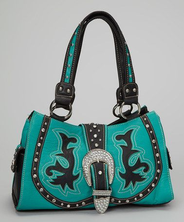 Take a look at this Turquoise Western Tote by Montana West on #zulily today!