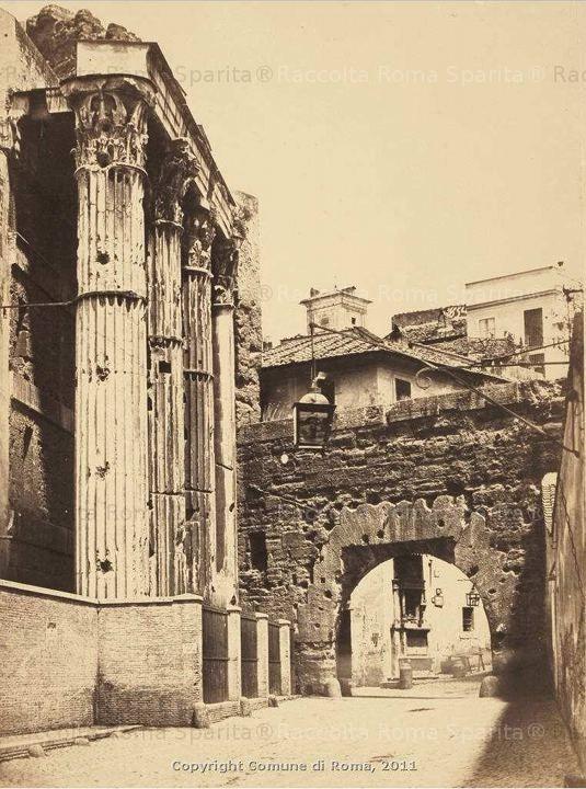Foro di Augusto, Arco deiPantani e Tempio di Marte Ultore Anno: 1823/1890