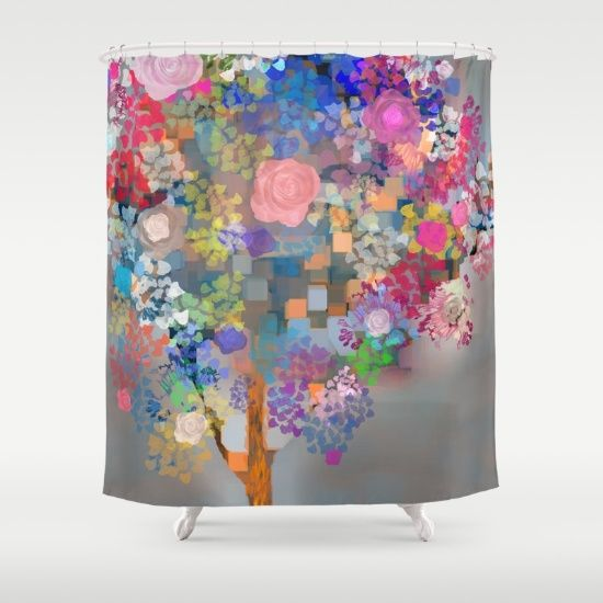 Floral abstract(56) Shower Curtain