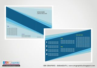 A4-Creative Trifold Brochure Template for  Corporate Template,  Business, Education, College...