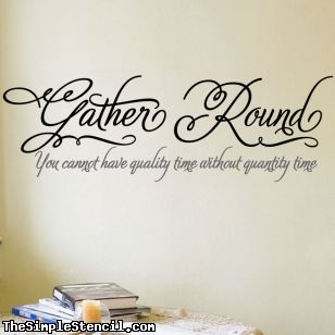 Gather Round Wall Lettering
