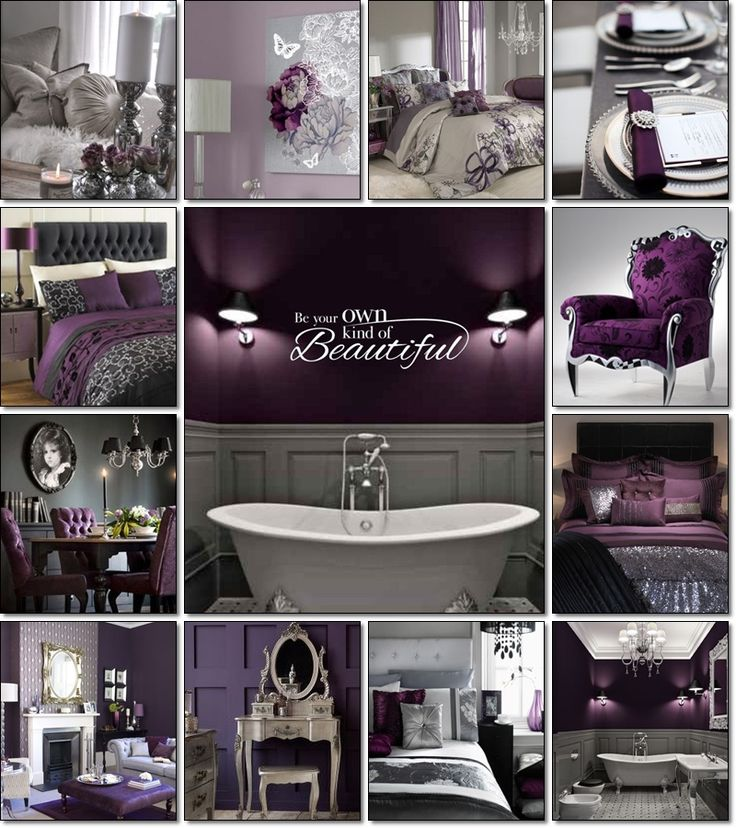 Purple And Grey On Pinterest
