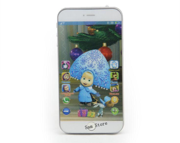 Rusia bahasa Berbicara Masha dan Beruang mainan Bayi Ponsel telepon boneka Musik Elektronik Interaktif Mainan untuk anak anak