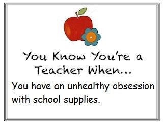 You know youre a teacher when you have an unhealthy obsession with school supplies.Classroom Quotes, Teachers Quotes, School Supplies, Education Ideas, Schools Supplies, Teachers Funny, Cheap Pinterest, Pinterest Marketing, Marketing Contact