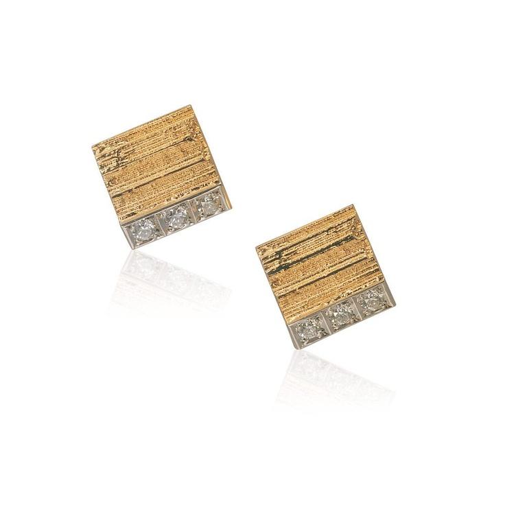 MINI CIRIA  Design Björn Weckström / Gold Earrings / Lapponia Jewelry / Handmade in Helsinki
