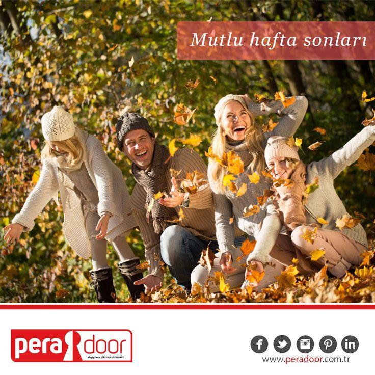 Sevdiklerinizle birlikte huzurlu ve mutlu bir hafta sonu geçirmenizi dileriz. #aile #mutluluğuaralayın #happy #sonbahar #mutluluk #kapı #ahşakkapı #çelikkapı