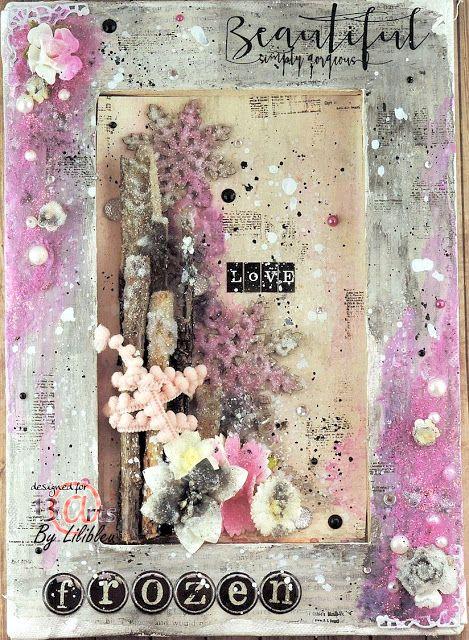 """Lydie Denis - Lilibleu: Canvas """"Frozen"""" - DT 13 Arts"""