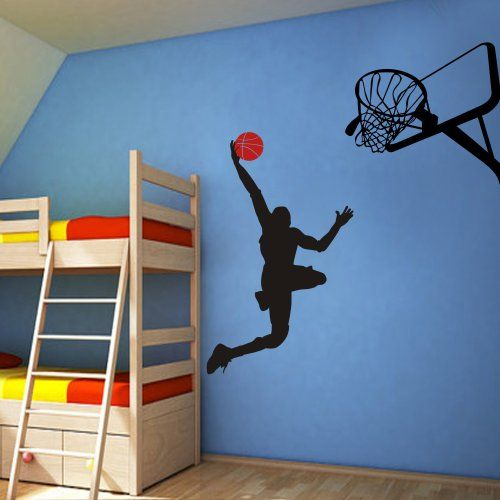 Basketball Player Dunk Ball Michael Jordan   Wall Decal Vinyl Sticker Kidu0027s  Bedroom D¨¦