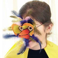 Χειροποίητη Αποκριάτικη Μάσκα Πουλί πουλί3