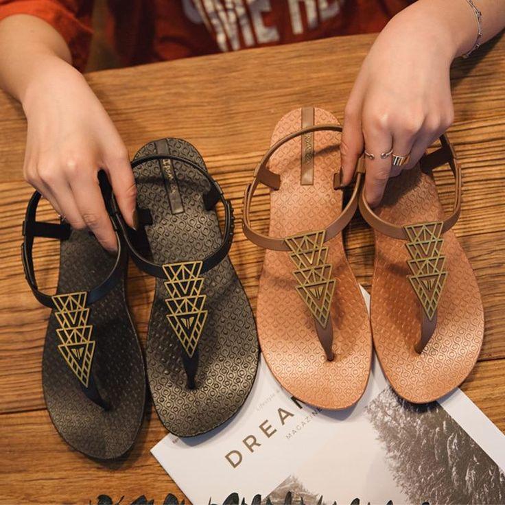 Beach Sandals Women Slippers Ladies Flat Slides Flip Flops