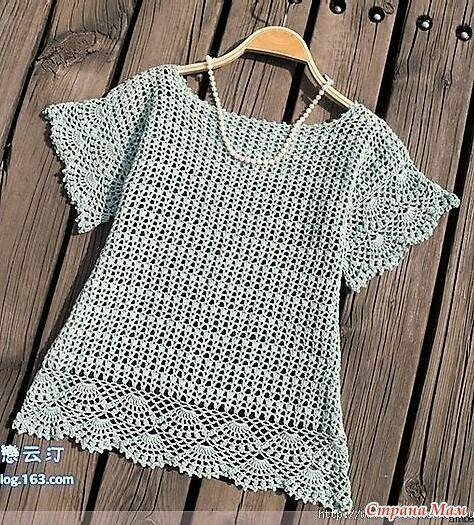 Tecendo Artes em Crochet: Blusa Linda!