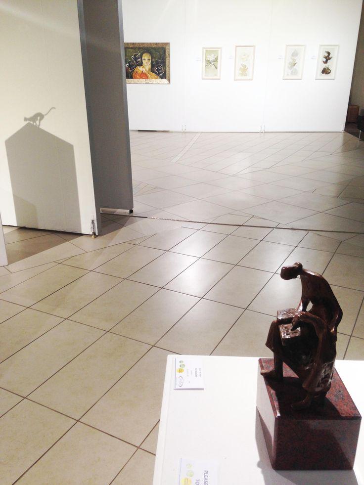 Unisa Art Gallery - CANSA Art Exhibition - Artwork by Danie de Jager - Photograph by Megan Erasmus