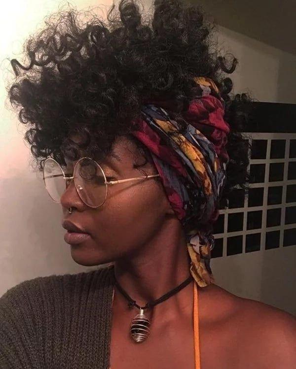 Headscarf Mohawk Curls Natural Hair Styles Hair Styles Curly Hair Styles