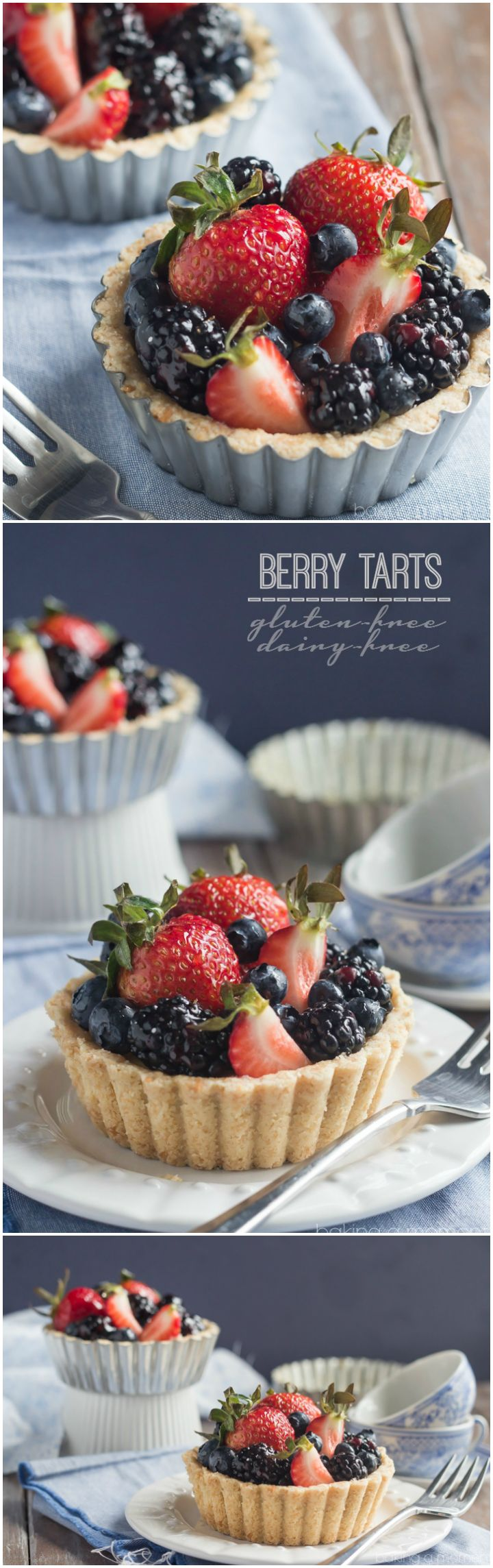 These gorgeous berry tarts were so simple to make and they tasted so good I couldn't believe they were GF & DF! ~ http://bakingamoment.com