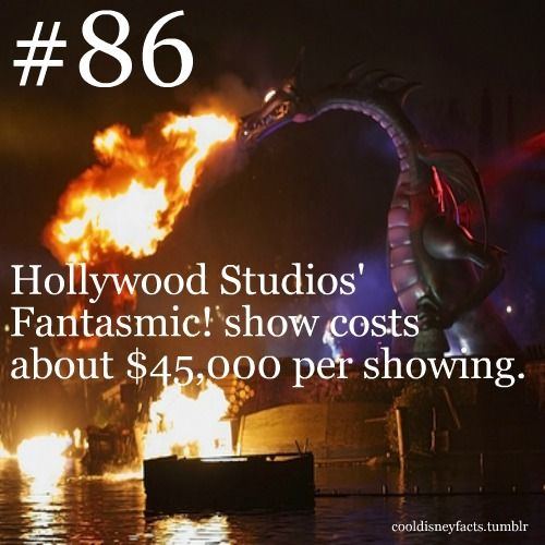 Disney Fun Fact #86: Hollywood Studios' Fantastic show costs about $45, 000 per showing.
