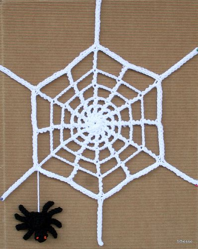 crochet spider and his web