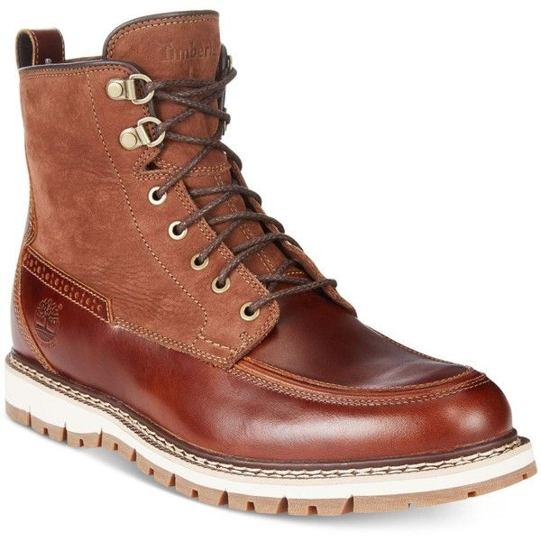 Timberland Men's Britton Mountain Waterproof Boots ($200) ❤ liked on Polyvore featuring men's fashion, men's shoes, men's boots, brown, timberland mens shoes, mens brown shoes, mens shoes, timberland mens boots and mens waterproof shoes