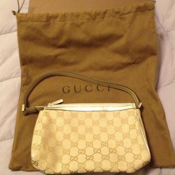 Authentic Gucci Gold Trimmed Bag Authentic Adorable Gold-Trimmed Gucci Bag (price reduced) Gucci Bags