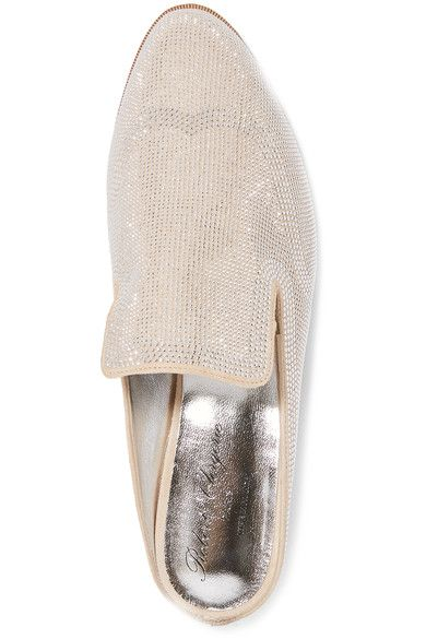 Robert Clergerie - Astre Studded Suede Slippers - Neutral - IT35.5