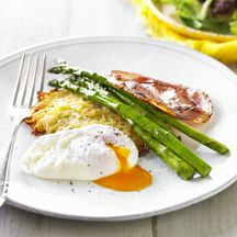 Baked rosti with eggs