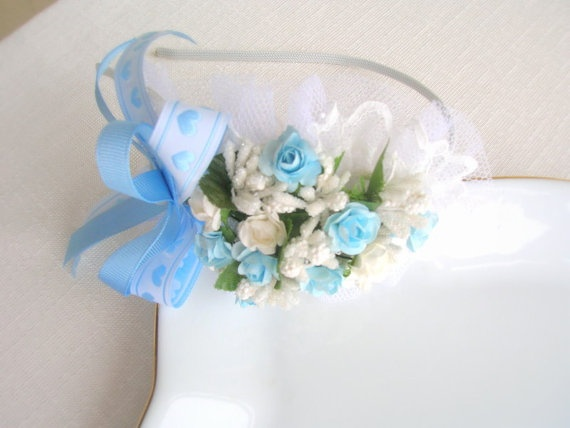 Spring Hair Accessory Flower lacy crown maternity by NurayAytac, $18.00