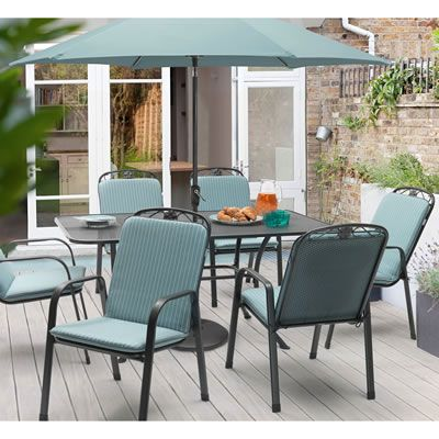 kettler siena 6 seat set ksieset03 garden furniture world - Garden Furniture Kettler