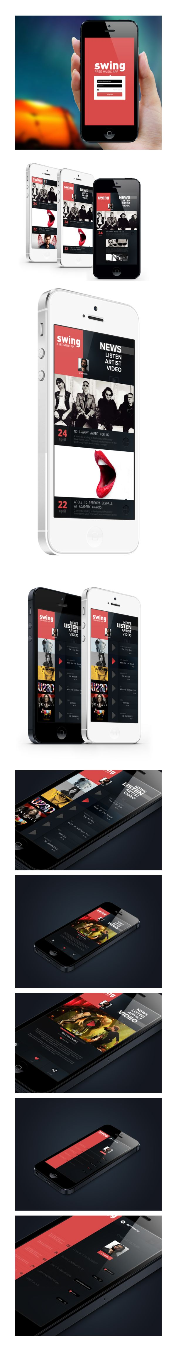 very cool iphone Music App. Concept by Enes Danış, via #Behan... on Twitpic