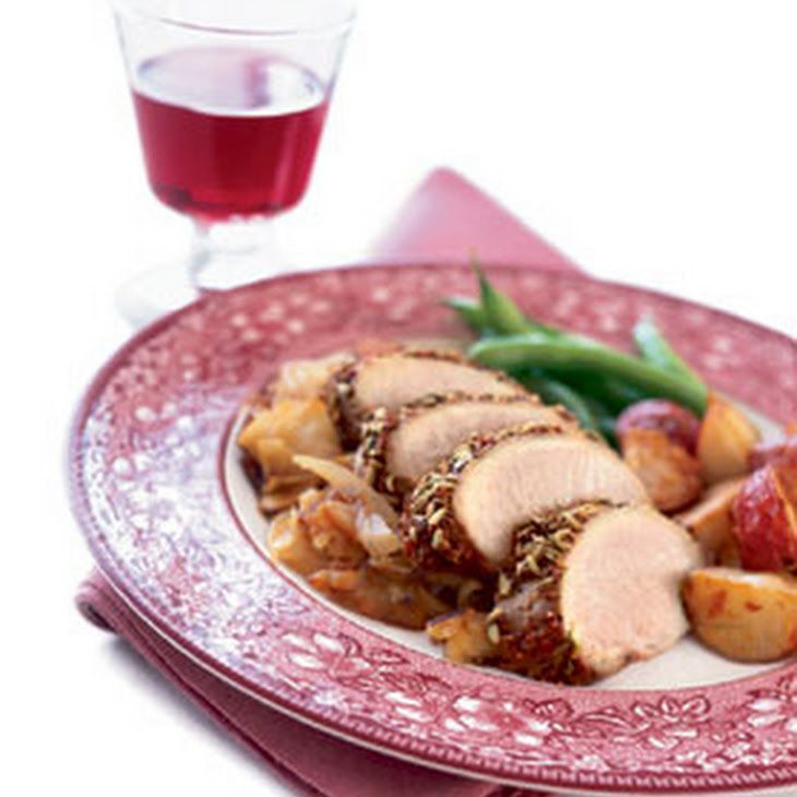 Pork Tenderloin with Roasted Apples and Onions Recipe Main Dishes with ...