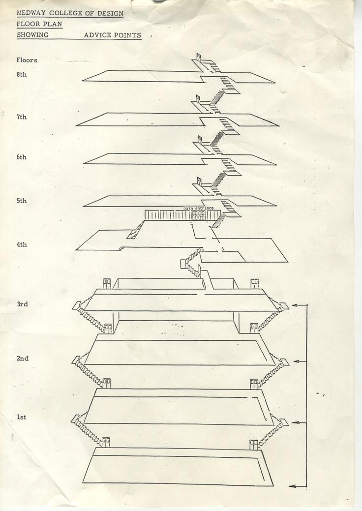 Architectural plan: Original floor plan for Medway College of Art.
