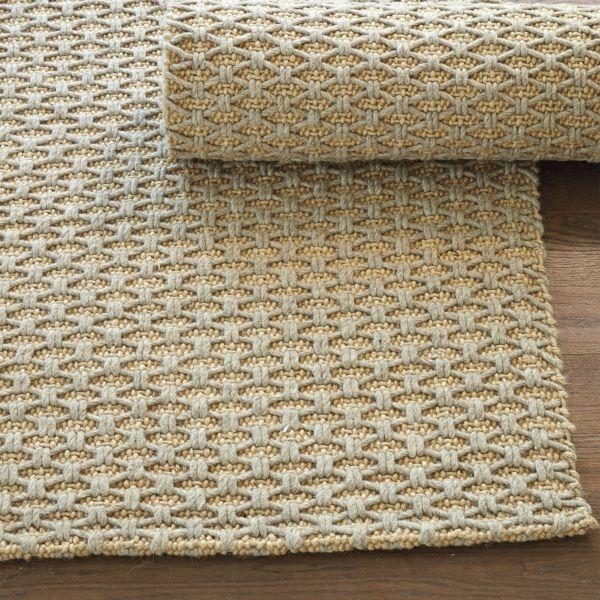 Lattice Knot Wool U0026 Jute Rug