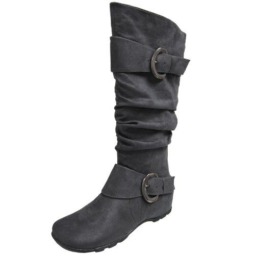 Journee Collection Buckle Accent Slouchy Mid-calf Boots $28.99