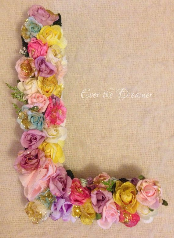 Floral Flower Initial personalised embellished by EverTheDream