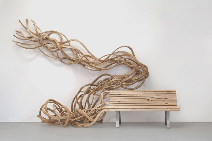 Pablo Reinoso - Art - Spaghetti Bench | Aladin Spaghetti Bench, 2013, wood and steel