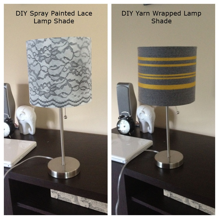Best Lamp Shade Images On Pinterest Lampshades Lampshade - Diy cloud like yarn lampshade